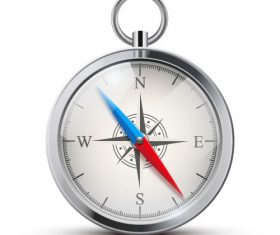 Compass clock illustration vector