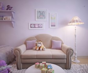 Concept design for a child's room in a subtle violet tone (4)