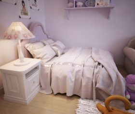 Concept design for a child's room in a subtle violet tone (5)