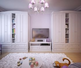 Concept design for a child's room in a subtle violet tone (6)