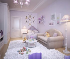 Concept design for a child's room in a subtle violet tone (7)