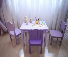 Concept design for a child's room in a subtle violet tone (8)