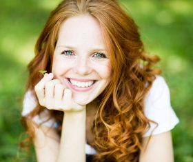 Confident smiling woman outdoor photo Stock Photo 05