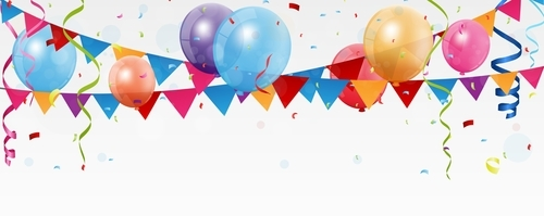 Corner flag with balloons background vector