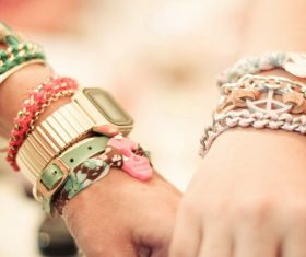 Couple bracelet Stock Photo