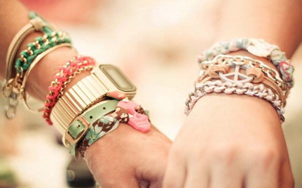 Couple bracelet Stock Photo
