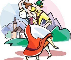 Couple dance vector