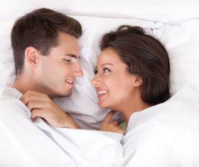 Couple sleep in each others arms Stock Photo 02