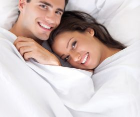 Couple sleep in each others arms Stock Photo 03