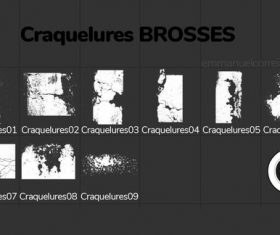 Craquelures Photoshop Brushes