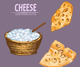 Cream with cheese vintage vector material
