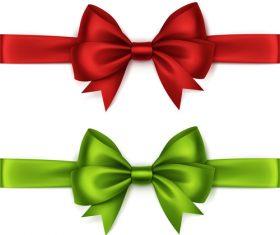 Creative bows design vector material 01