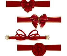 Creative bows design vector material 03