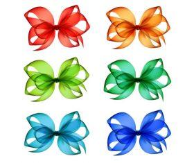 Creative bows design vector material 04