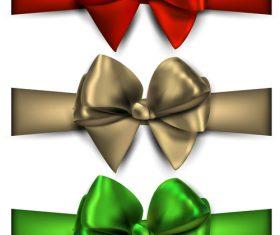 Creative bows design vector material 05