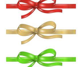 Creative bows design vector material 09