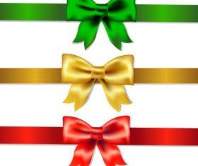 Creative bows design vector material 10