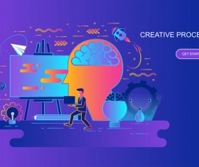 Creative process design concept vector