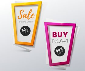 Creative sale banners template vector 02