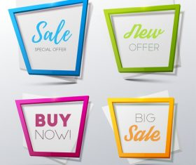 Creative sale banners template vector 03
