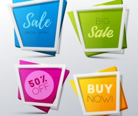 Creative sale banners template vector 04