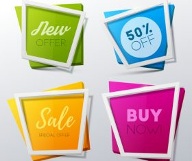 Creative sale banners template vector 05