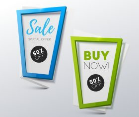 Creative sale banners template vector 07