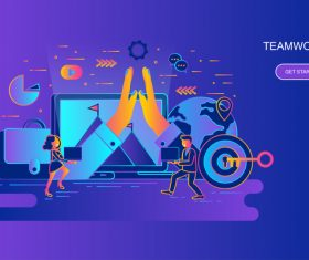 Creative teamwork design concept vector