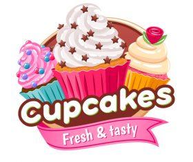 Cupcakes labels vectors