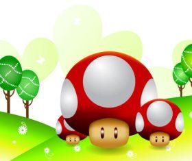 Cute little mushroom vector