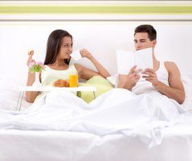 Daily life of Happy couple Stock Photo