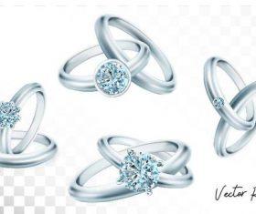 Diamond ring illustration vector material