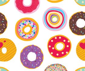 Donuts seamless pattern vector 03