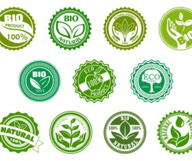 Eco food with bio labels vector