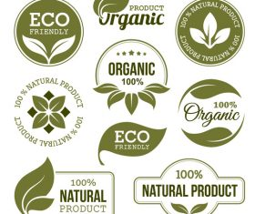 Eco with organic labels vector