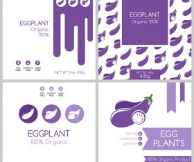 Eggplant package box template vector