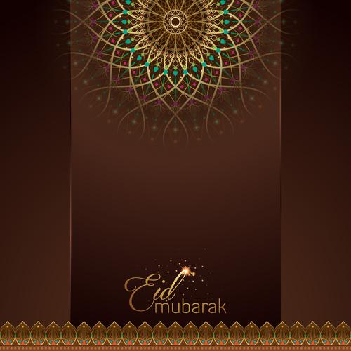 Eid mubarak greeting card with mandala geometric pattern vector free eid mubarak greeting card with mandala geometric pattern vector m4hsunfo