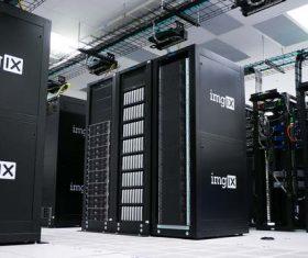 Electronic equipment room Stock Photo