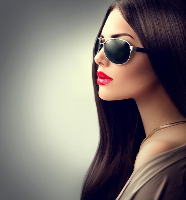 Elegant and charming temperament woman Stock Photo