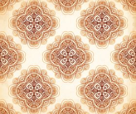 Ethnic circle decor seamless pattern vector