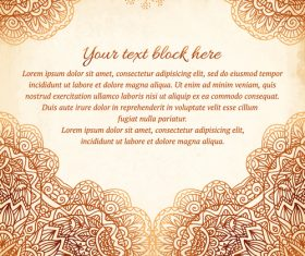 Ethnic new background vector material 01