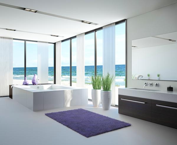 Exclusive Luxury Bathroom Interior Stock Photo 02