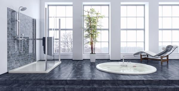 Exclusive Luxury Bathroom Interior Stock Photo 03