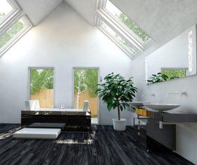 Exclusive Luxury Bathroom Interior Stock Photo 05