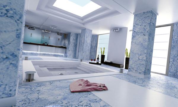 Exclusive Luxury Bathroom Interior Stock Photo 06