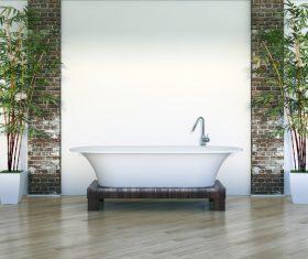 Exclusive Luxury Bathroom Interior Stock Photo 07