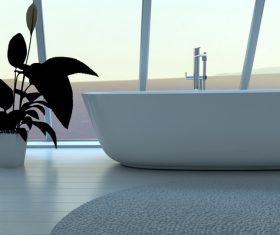 Exclusive Luxury Bathroom Interior Stock Photo 08