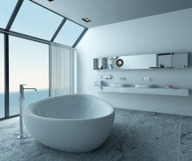 Exclusive Luxury Bathroom Interior Stock Photo 09