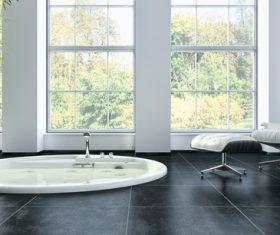 Exclusive Luxury Bathroom Interior Stock Photo 11