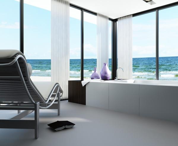 Exclusive Luxury Bathroom Interior Stock Photo 12